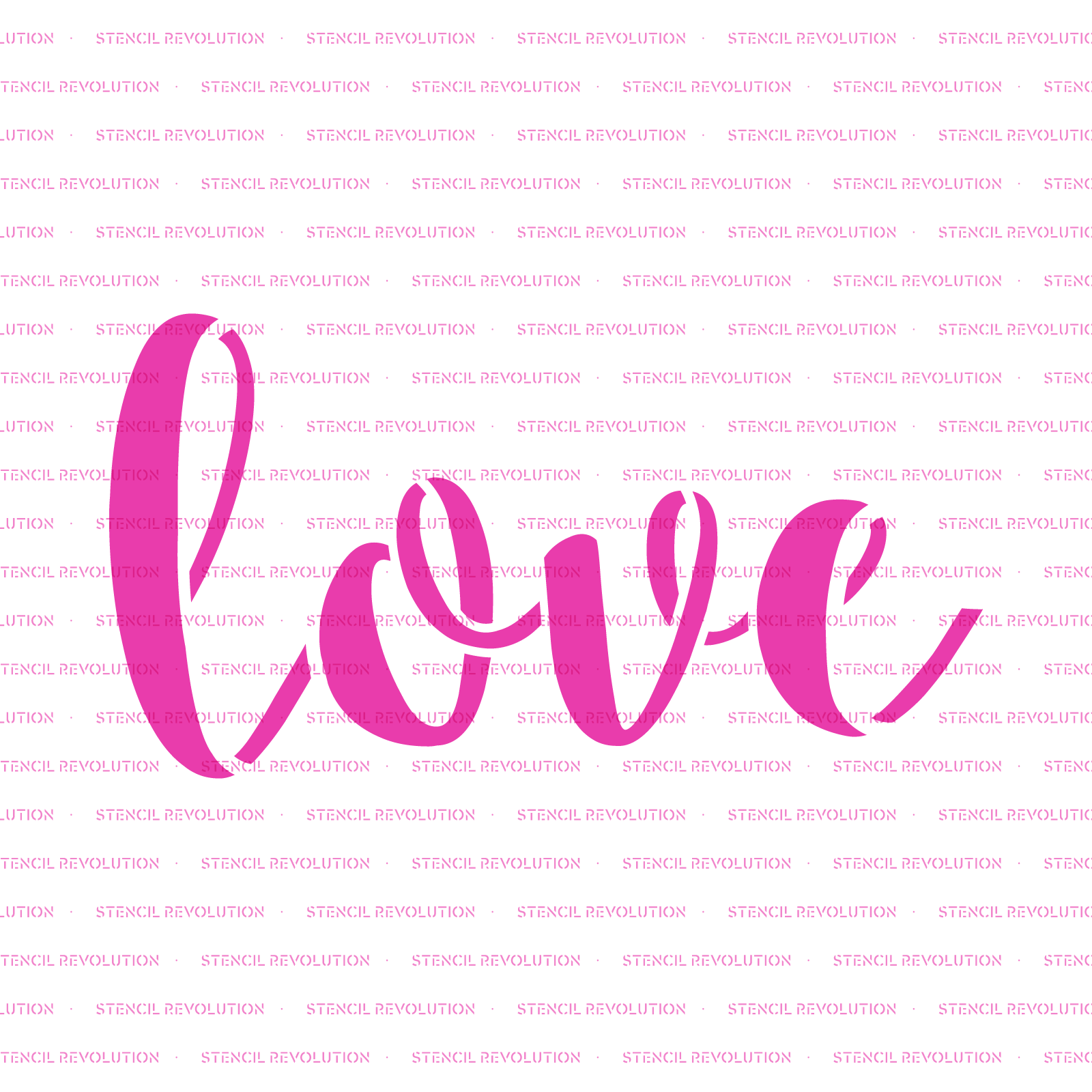 Love Stencil - Reusable Stencils of Love in Multiple Sizes