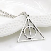 Harry Potter Deathly Hollows Necklace Pendant 3 Piece Gold Plus Time Tur... - $6.79