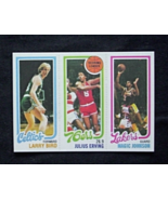 1980/81 Topps Basketball #6 Julius Erving/Larry Bird/Magic Johnson (RC) Reprint - $4.00
