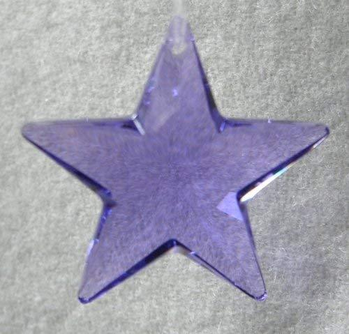 Swarovski 28mm Blue Violet Crystal Star Prism