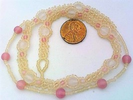 Rose Quartz Beaded Daisy Chain Necklace - $16.99