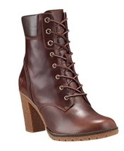 "Timberland Women's 6"" Glancy Dark Brown  Smooth Leather 3"" Heel Boots 19520 - $120.62"
