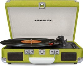 Crosley CR8005D Deluxe Cruiser Portable Bluetooth Turntable Record Player Green - $78.95
