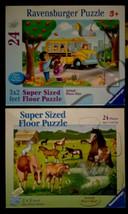 2x Ravensburger Super Sized Floor Puzzle Horses Galore - Going to School... - $15.59