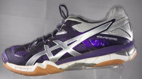ASICS Gel-Tactic Women's Shoes US Size 10 Volleyball Shoe Purple Silver B554N