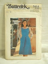 Butterick Fast & Easy 5414 Sewing Pattern Size 14 Misses Jumper - $6.92