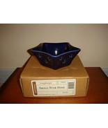 Longaberger Woven Traditions Pottery Small Star Blue Dish MIB - $12.99