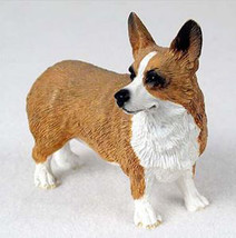 WEST CORGI PEMBROKE DOG Figurine Statue Hand Painted Resin Gift Pet Lovers - $17.25