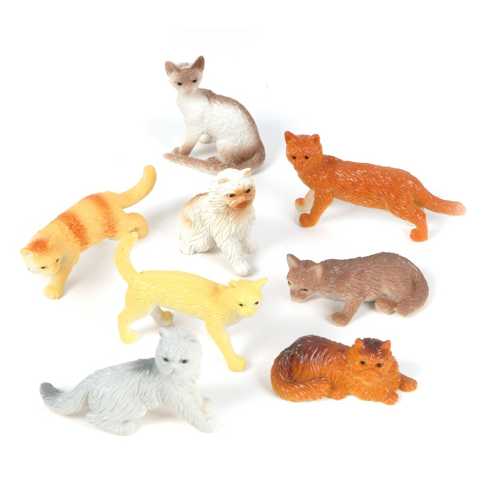 12 MINIATURE CAT FIGURINES