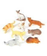 12 MINIATURE CAT FIGURINES - $25.11 CAD