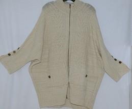 Simply Noelle Brand JCKT222Z Womens Pearl Zippered Sweater Jacket Size XXL image 1