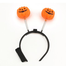 Halloween LED Flashing Light Up Pumpkin Headband Party Costume Prop Acce... - £3.45 GBP+