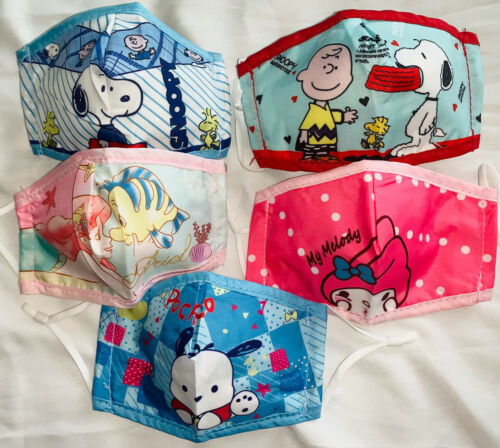 Primary image for Kids fabric face mask includes 1 filter - Sanrio, Disney, Hello Kitty, Snoopy