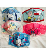 Kids fabric face mask includes 1 filter - Sanrio, Disney, Hello Kitty, S... - £9.39 GBP