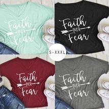 2017 Summer Women Fashion Casual Letters Printed T-Shirt Short Sleeves Faith Ove