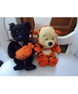 Lot of 2 Disney Pooh in Tigger costume and Ty Trickster Halloween bear - $6.95