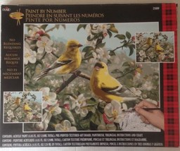 "Paint By Number Kit Goldfinches Birds Plaid 16""... - $32.71"
