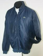 Izod Lacoste Jacket Mens Large Windbreaker Blue Vintage 1980's - $49.45