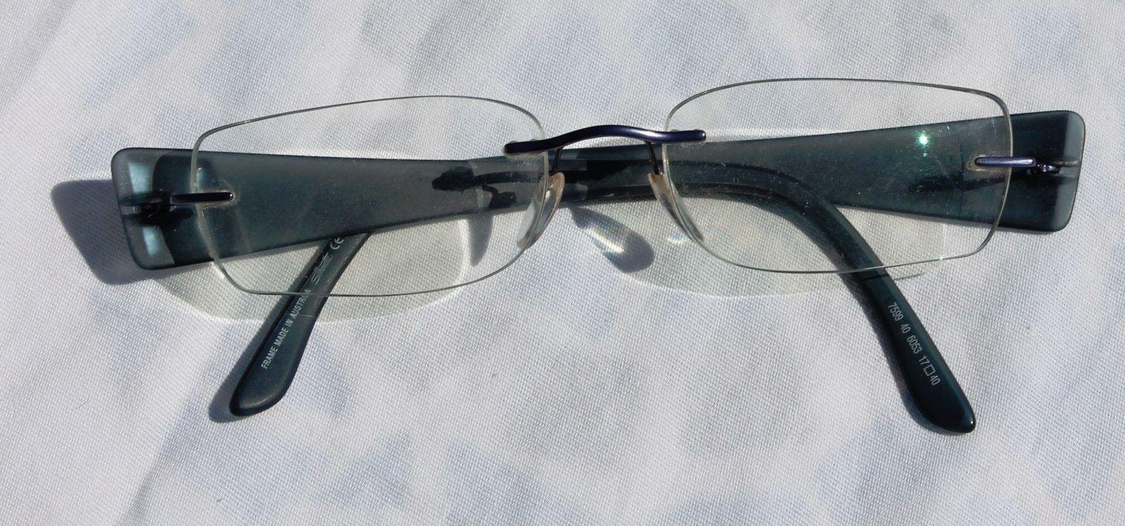 718a3610e6 Silhouette Rimless Titan Edge Glasses Eyeglasses Frame Blue 17 40 Model 7599