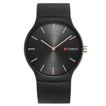 CURREN 8256 Luxury Simple Fashion Business Steel Strap Men Quartz Wrist Watch - $20.99