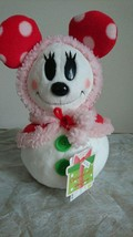 Tokyo Disney Resort 2012 Chirthmas Snow snow plush doll Minnie Mouse red  - $66.33