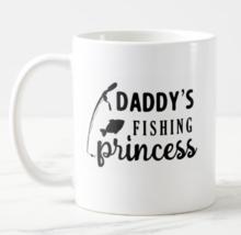 Daddy's Fishing Princess Coffee Mug Him Her Mom Dad Home Fun Unique Gift - $11.28