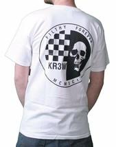 KR3W Skateboarding Mens White Black Skraw Ska Skull Regular T-shirt K52559 NWT image 1