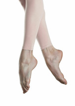 Capezio 1806 Women's Size Small Pink Ultra Shimmery Footless Tights - $5.99