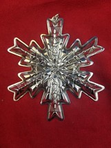 1978 Gorham Sterling Silver Snowflake Christmas Ornament  - $59.00