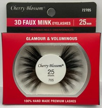 CHERRY BLOSSOM 3D FAUX MINK EYELASHES 25mm GLAMOUR & VOLUMINOUS  #72705 - $1.97