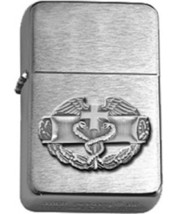 Brushed Chrome Army Combat Medical Badge Star Lighter - ANTIQUE SILVER - $14.84