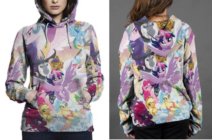 My little pony hoodie fullprint for women