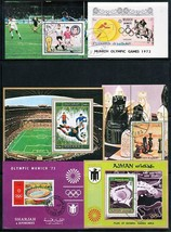 OLYMPIC GAMES from ARABIA  collection x14 S/S used/CTO SPORTS, SOCCER, C... - $5.15