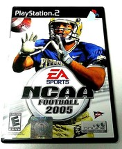 PS2 GAME EA SPORTS NCAA FOOTBALL 2005 E RATED WITH ORIGINAL DISC MANUAL... - $4.64 CAD
