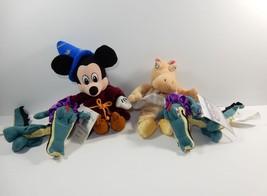 Disney Store Fantasia Mickey Hippo Alligator Bean Bag Plush - $13.09