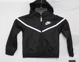 Nike Toddler FULL-ZIP Hoodie Jacket, Size 2T, Black, 76C637-023 - $52.80
