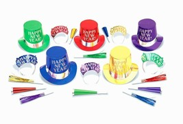 Midnight Elegance Party New Years Eve 20 Pc Asst Colors Kit For 10 Hats ... - $29.69