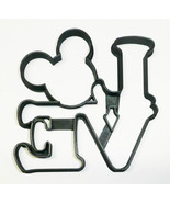 Mickey Mouse Head Love Word Letters Valentine Wedding Cookie Cutter USA ... - $2.99