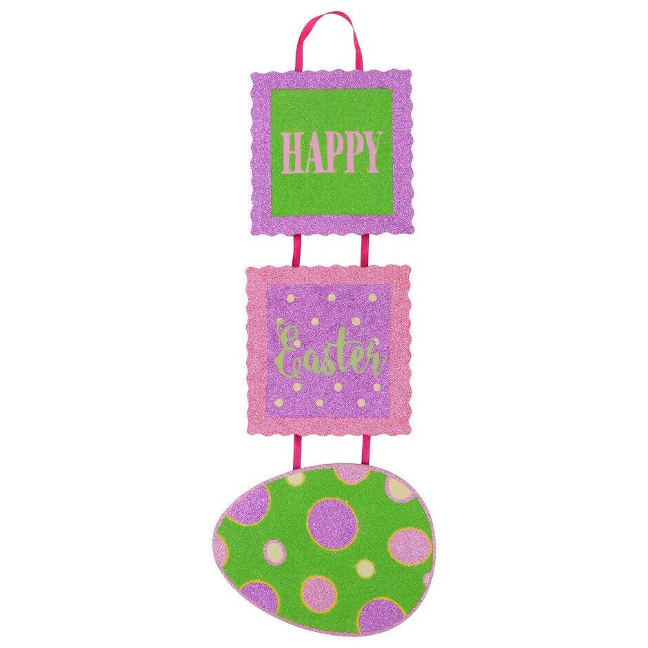 Primary image for Happy Easter Tile Hanging Wall Décor w