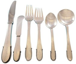 Beaded by Georg Jensen Sterling Silver Flatware Set for 12 Service 72 pc... - $11,895.75