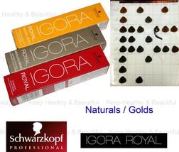 1x Schwarzkopf IGORA Permanent Color Creme Naturals / Golds 60ml  - $9.50