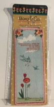 Mary Engelbreit Mary & Co Magnetic Bookmark Pink Light Blue - $7.92