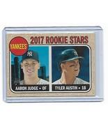 2017 Topps Heritage Aaron Judge / Tyler Austin New York Yankees Rookie #... - $7.91