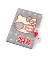 Hello Kitty Americana Lock Diary Star Stripes Red White Blue Patriotic -... - $19.03