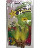 Wishing Star Trolls Doll Earrings Yellow hair sealed Vintage  - $9.49