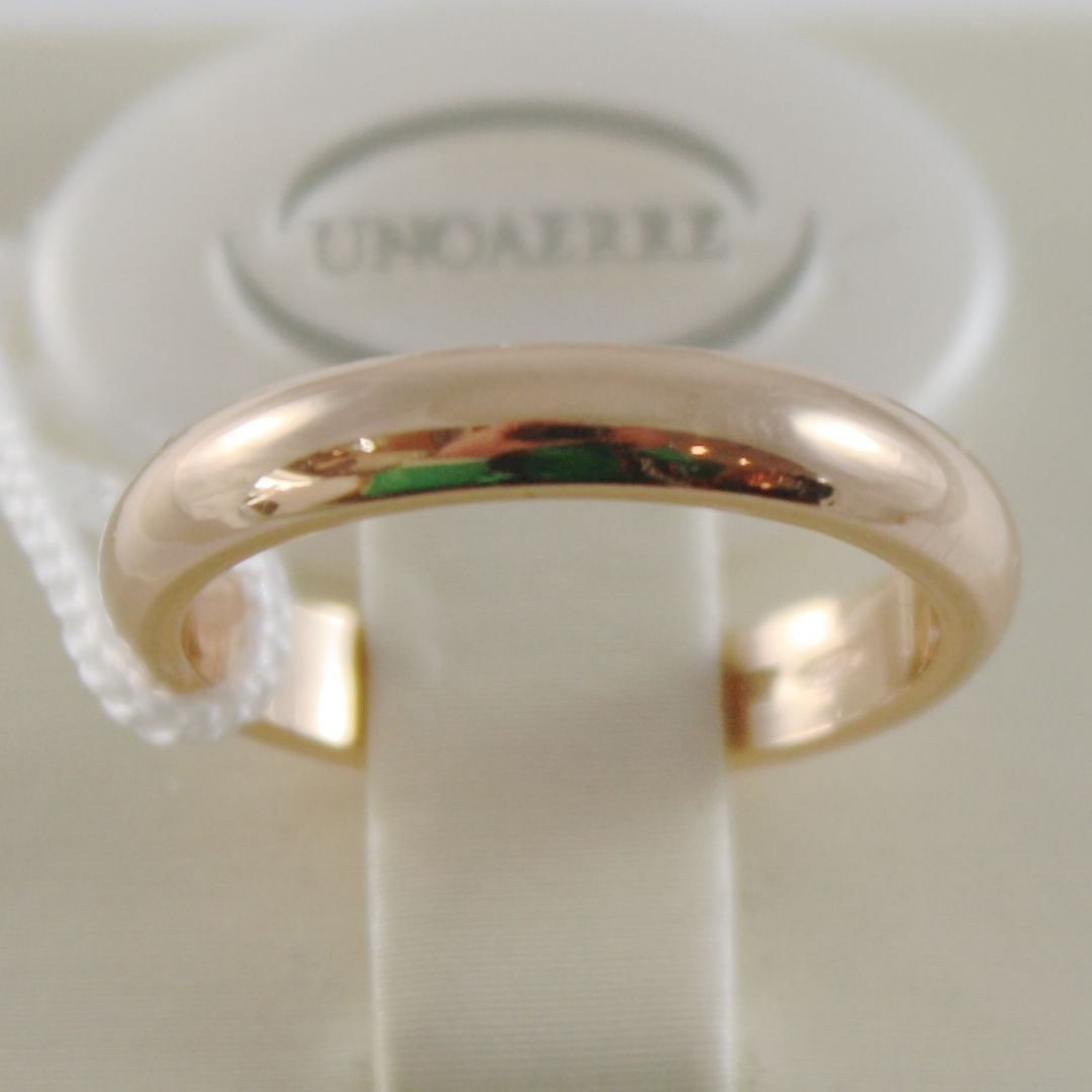 SOLID 18K YELLOW GOLD WEDDING BAND UNOAERRE RING 5 GRAMS MARRIAGE MADE IN ITALY