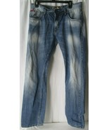 Lee Cooper 36 x 34 Harry Straight Leg Light Wash Stretch Denim Jeans Dis... - $19.79