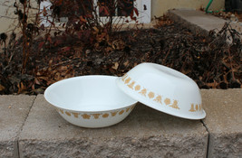 "Set of 2 Corelle Corning Butterfly Gold Large 10"" Vegetable /Salad Servi... - $29.99"