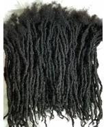100% Nonprocess Human Hair handmade Dreadlocks 60 pieces  stretch 14'' b... - $340.00