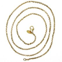 """SOLID 18K TWO TONE GOLD, 1.5 MM SIDE DIAMOND CUT ROLO CABLE CHAIN, BRIGHT 18"""" image 4"""